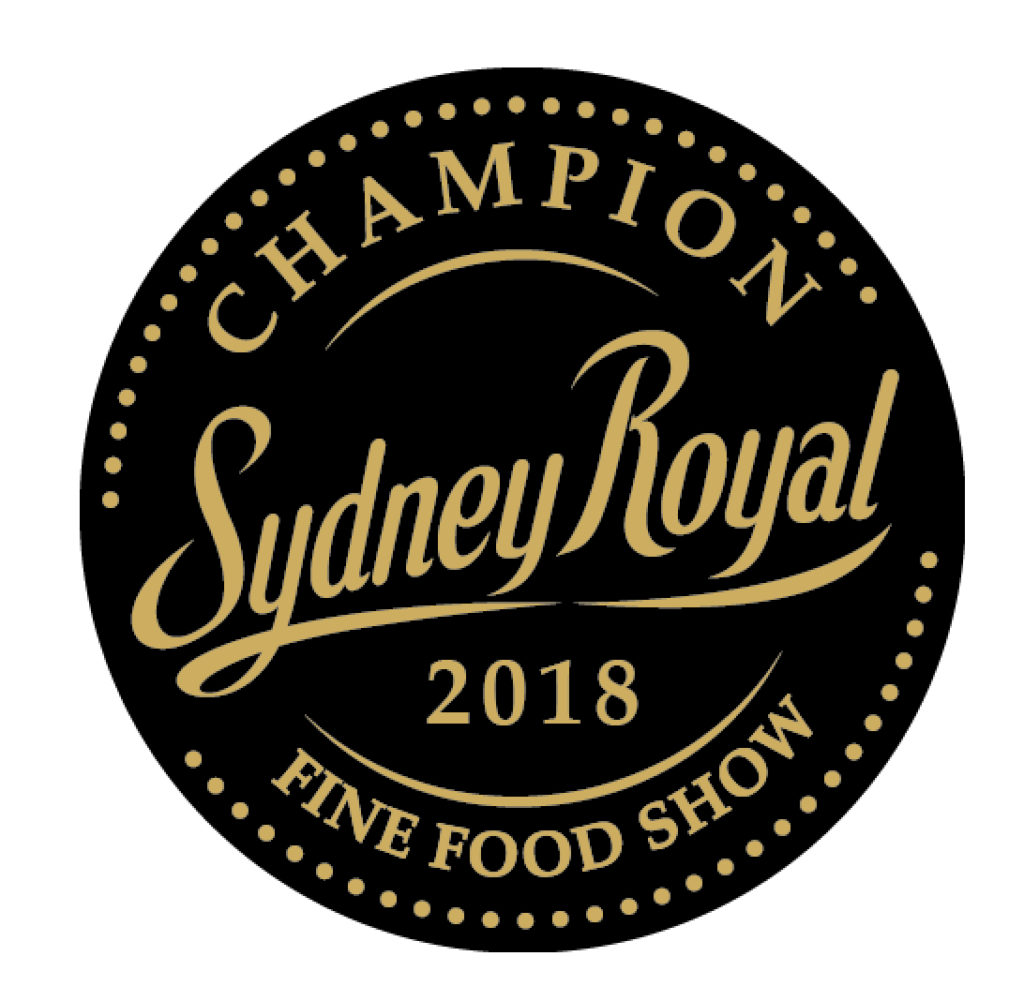 2018 Gold Medal from the Sydney Royal - a national competition.